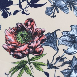 Muslin Fabric Spring - peach x 50cm