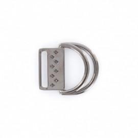 Boucle de ceinture double anneau - métal