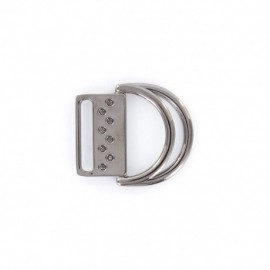 Double ring belt buckle  - metal