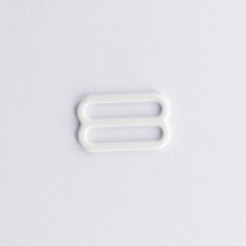 Metal enamel bra sliders (pair) - ivory