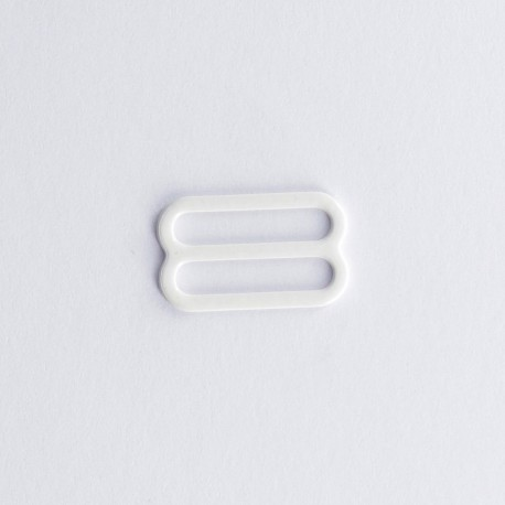 Metal enamel bra sliders (pair) - ivory