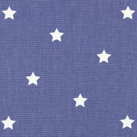 Tissu coton enduit vernis Twinkle - denim x 10cm