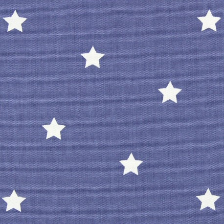 Varnished and coated cotton fabric Twinkle - denim  x 10cm