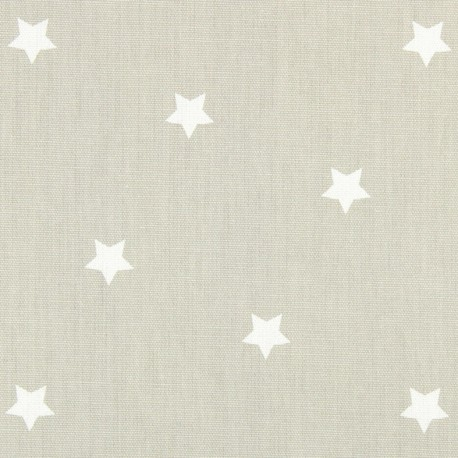 Tissu coton enduit vernis Twinkle - oatmeal x 10cm