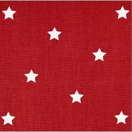 Tissu coton enduit vernis Twinkle - cardinal x 10cm
