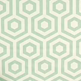 ♥ Only one piece 290 cm X 130 cm ♥ Varnished and coated cotton fabric Hex - aqua