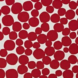 Tissu coton enduit vernis Fizz - ruby x 10cm