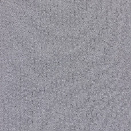 Openwork Jersey Fabric France duval - grey x 10cm