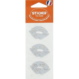Tex Style Stickers Lèvre - silver