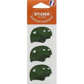 Stickers Tex Style Casque - vert