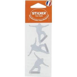 Stickers Tex Style Skateur - argent