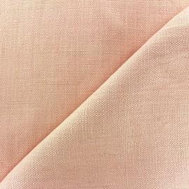 ♥ Coupon 50 cm X 140 cm ♥ Tissu épais lin Linobel - rose zéphir
