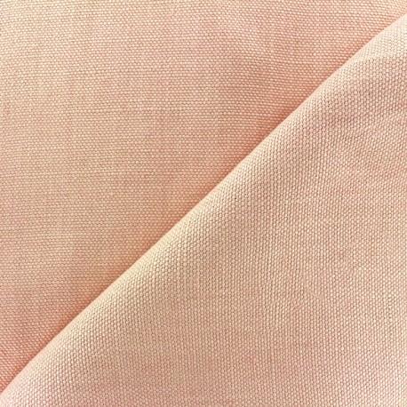 Tissu épais lin Linobel - rose zéphir x 10cm