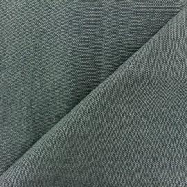 Thick linen fabric Linobel - steel zéphir x 10cm
