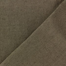 Thick linen fabric Linobel - taupe zéphir x 10cm
