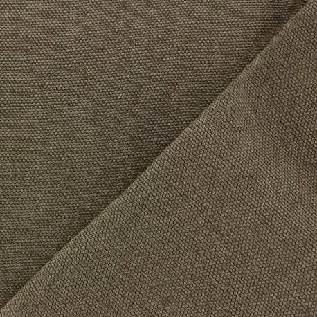Thick linen fabric Linobel - grey zéphir x 10cm