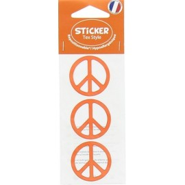 Tex Style Stickers Peace - orange