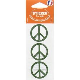Stickers Tex Style Peace - vert
