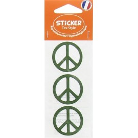 Tex Style Stickers Peace - green