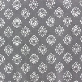 Tissu enduit coton Regalido Mouche - gris x 10cm