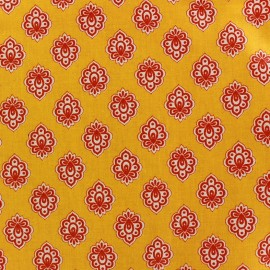 Coated cotton fabric Regalido Mouche - yellow x 10cm