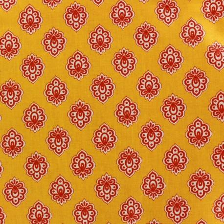 Coated cotton fabric Regalido Mouche - yellow x 10cm