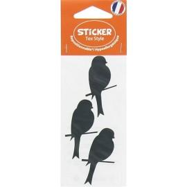 Stickers Tex Style Oiseau - noir