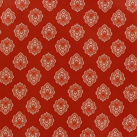 Tissu enduit coton Regalido Mouche - rouge x 10cm