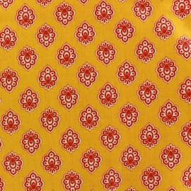 Tissu coton crétonne Regalido mouche - jaune x 10cm