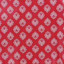 Tissu coton crétonne Regalido mouche - framboise x 10cm