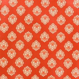 Tissu coton crétonne Regalido mouche - orange x 10cm