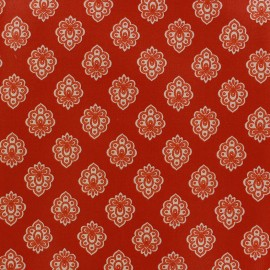 Cretonne cotton fabric Regalido mouche - red x 10cm