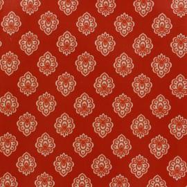 Tissu coton crétonne Regalido mouche - rouge x 10cm
