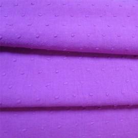 Tissu Plumetis violine x 10cm
