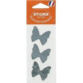 Stickers Tex Style Papillon - gris