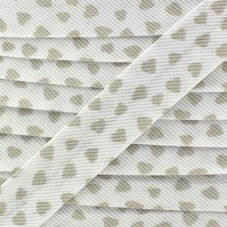 Biais Piqué de coton Love - beige