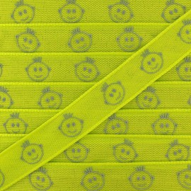 Woven Ribbon, Children's head x 1m - green