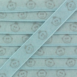 Woven Ribbon, Children's head x 1m - light blue