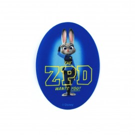 Thermocollant  Zootopie toile ovale - Judy Hopps ZPD