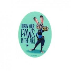 Thermocollant  Zootopie toile ovale - Judy Hopps PAWS