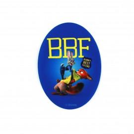 Thermocollant  Zootopie toile ovale -Judy & Nick BBF