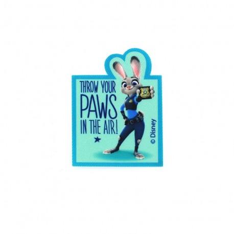 Iron on patch Zootopie Judy Hopps PAWS