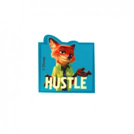 Iron on patch Zootopie Nick Wilde HUSTLE