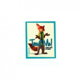 ♥ Thermocollant  Zootopie toile - Nick Wilde TRUST ME! ♥