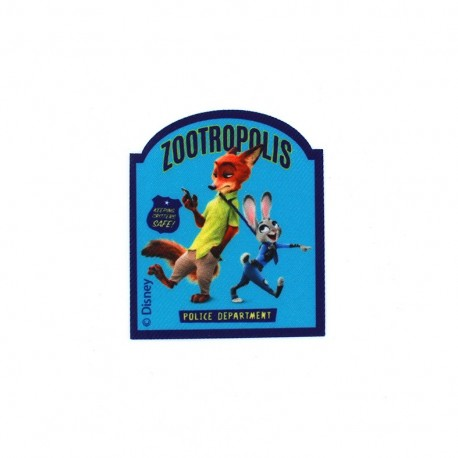Iron on patch Zootopie Judy & Nick ZOOTROPOLIS