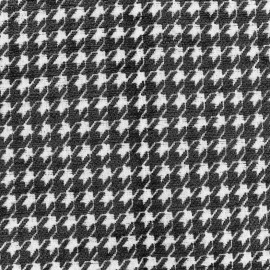 Tissu jacquard Boston - noir x 10cm