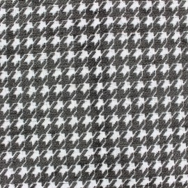 Tissu jacquard velours Boston - anthracite x 10cm