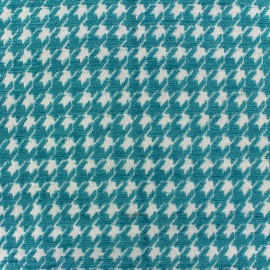 ♥ Coupon 10 cm X 140 cm ♥ Jacquard fabric Boston - azure