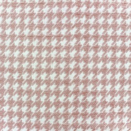 Tissu jacquard velours Boston - rose x 10cm