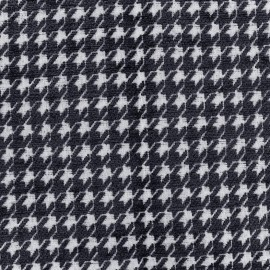 Tissu jacquard velours Boston - marine x 10cm